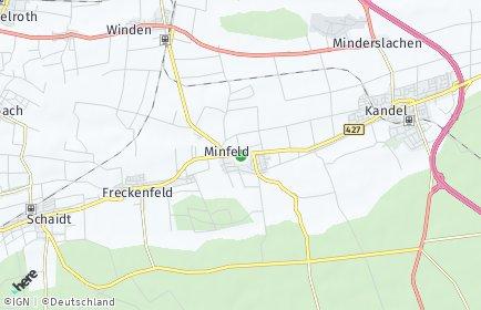 Stadtplan Minfeld