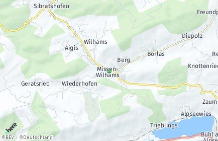 Stadtplan Missen-Wilhams