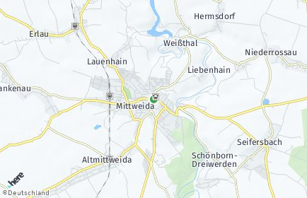 Stadtplan Mittweida