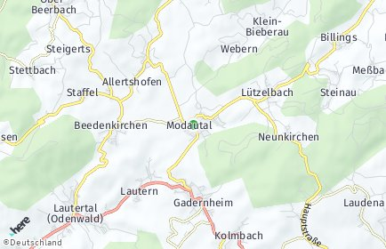 Stadtplan Modautal