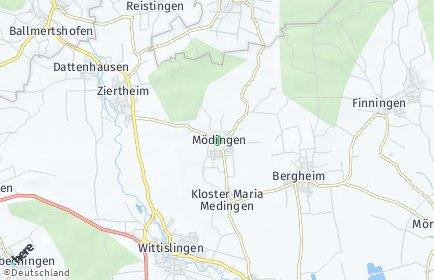 Stadtplan Mödingen