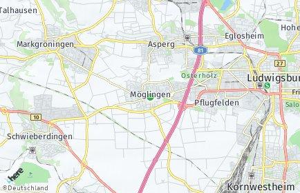 Stadtplan Möglingen