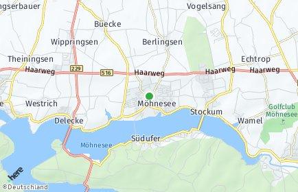 Stadtplan Möhnesee