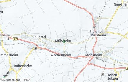 Stadtplan Mölsheim