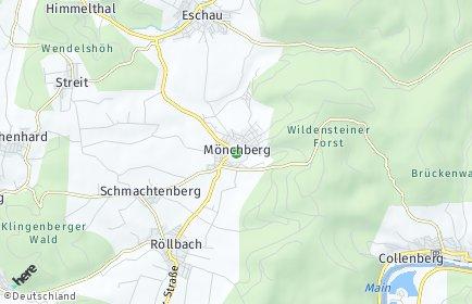 Stadtplan Mönchberg