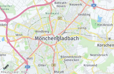 Stadtplan Mönchengladbach