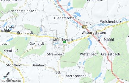 Stadtplan Mönchsroth