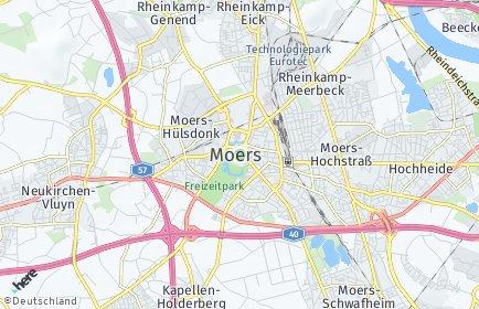 Stadtplan Moers