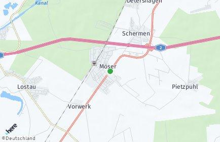 Stadtplan Möser OT Hohenwarthe