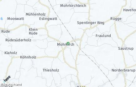 Stadtplan Mohrkirch