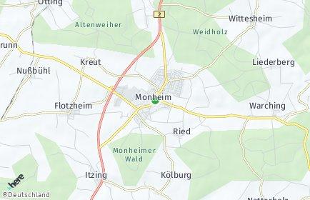 Stadtplan Monheim (Schwaben)