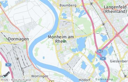 Stadtplan Monheim am Rhein