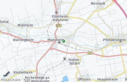 Stadtplan Monsheim