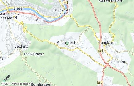 Stadtplan Monzelfeld