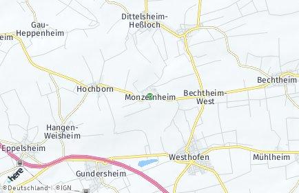 Stadtplan Monzernheim