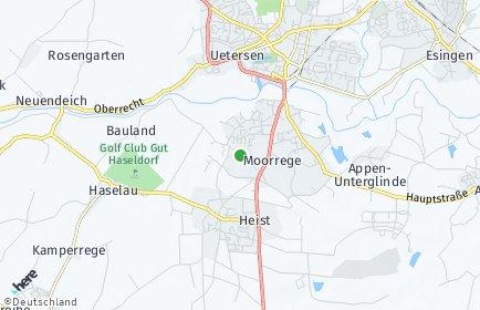 Stadtplan Moorrege