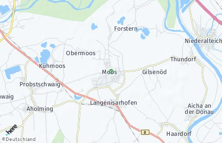 Stadtplan Moos (Niederbayern)
