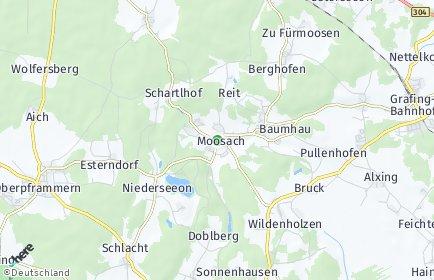 Stadtplan Moosach