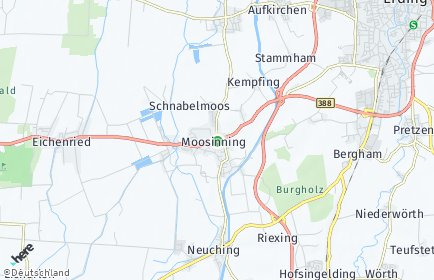 Stadtplan Moosinning