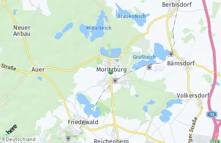 Stadtplan Moritzburg OT Boxdorf