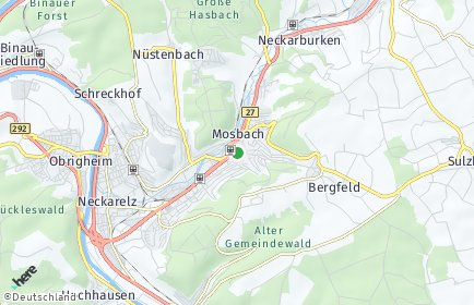 Stadtplan Mosbach