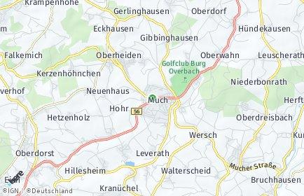 Stadtplan Much