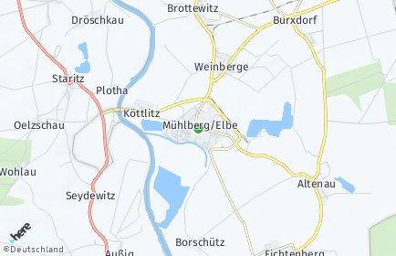 Stadtplan Mühlberg/Elbe