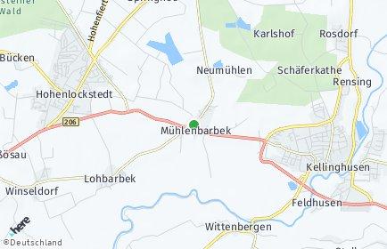 Stadtplan Mühlenbarbek