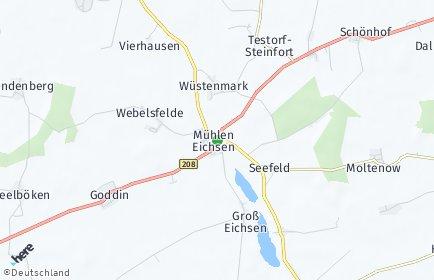 Stadtplan Mühlen Eichsen