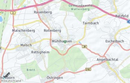 Stadtplan Mühlhausen (Kraichgau)