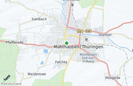 Stadtplan Mühlhausen/Thüringen