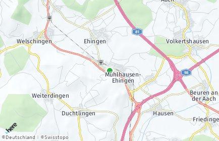 Stadtplan Mühlhausen-Ehingen