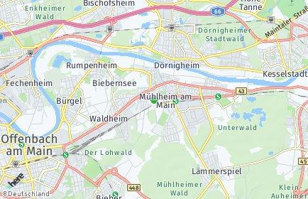 Stadtplan Mühlheim am Main