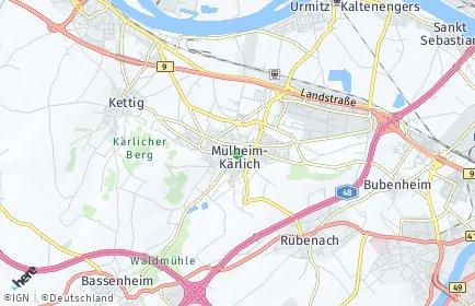 Stadtplan Mülheim-Kärlich