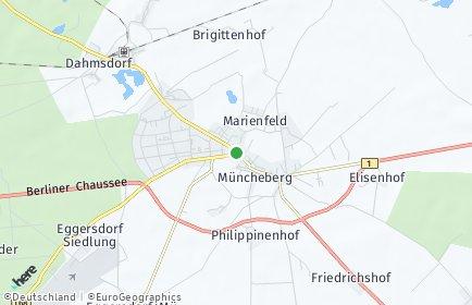 Stadtplan Müncheberg