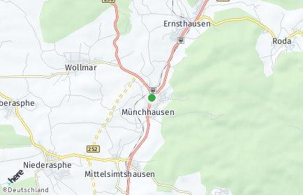 Stadtplan Münchhausen am Christenberg