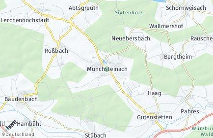 Stadtplan Münchsteinach