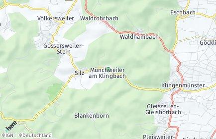Stadtplan Münchweiler am Klingbach