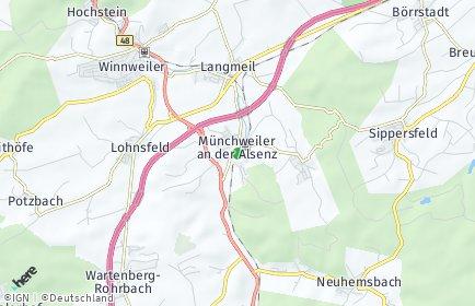 Stadtplan Münchweiler an der Alsenz