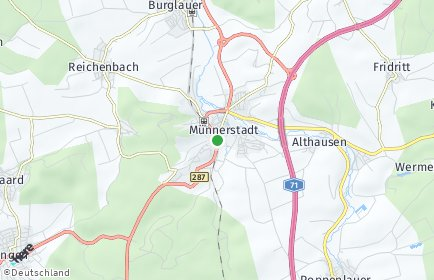 Stadtplan Münnerstadt