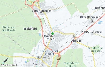 Stadtplan Münster bei Dieburg