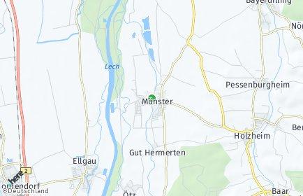 Stadtplan Münster (Lech)