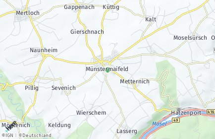 Stadtplan Münstermaifeld