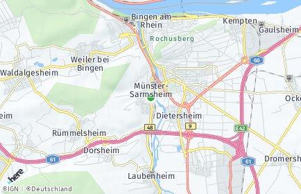 Stadtplan Münster-Sarmsheim