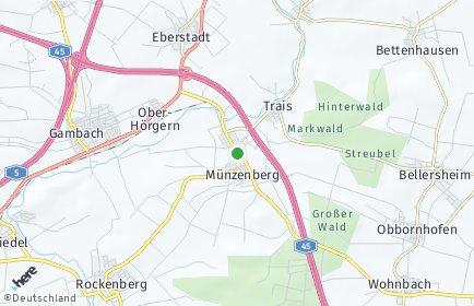 Stadtplan Münzenberg