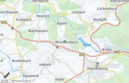 Stadtplan Müschenbach