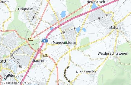 Stadtplan Muggensturm