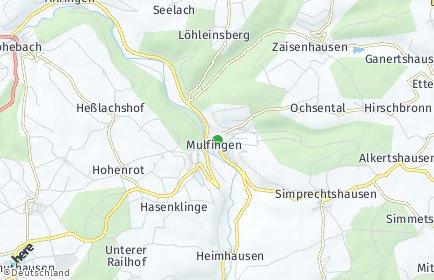 Stadtplan Mulfingen