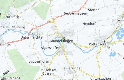 Stadtplan Munderkingen