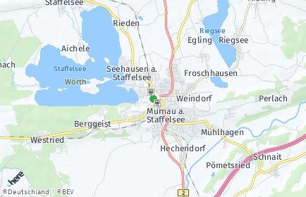 Stadtplan Murnau am Staffelsee